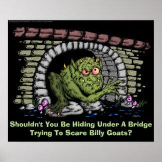 Troll Under A Bridge Poster