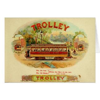 Trolley CIgars Card