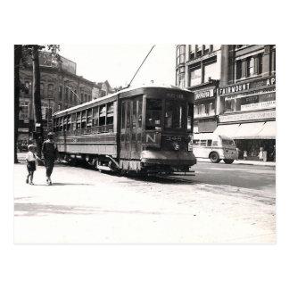 Trolley in Wilkes-Barre Postcard