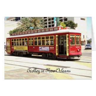 Trolley New Orleans Card