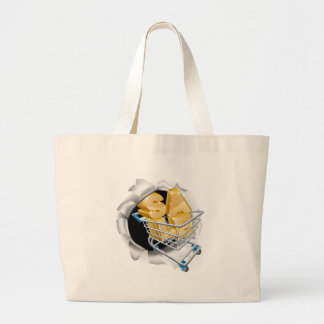 Trolley Sale Text Breaking Wall Large Tote Bag