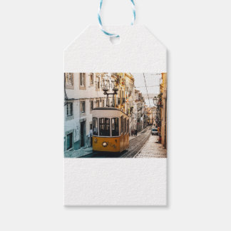 Trolley Street Car Transport Rail Train City Gift Tags