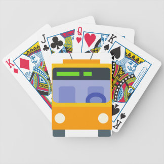 Trolleybus Bicycle Playing Cards