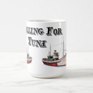 Trolling For Tuna Drink Receptical! Classic White Coffee Mug