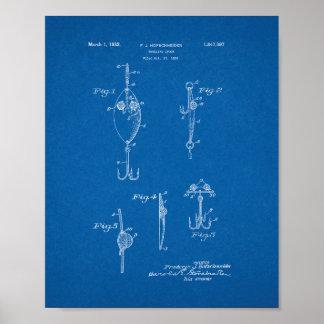 Trolling Spoon Patent - Blueprint Poster