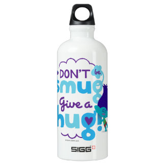 Trolls | Branch - Don't be Smug, Give a Hug Water Bottle