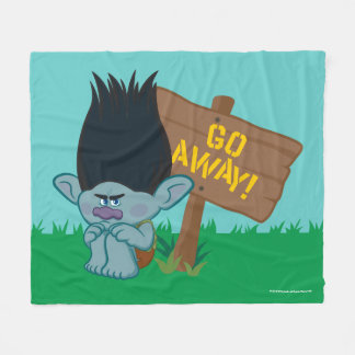 Trolls | Branch - Go Away Fleece Blanket