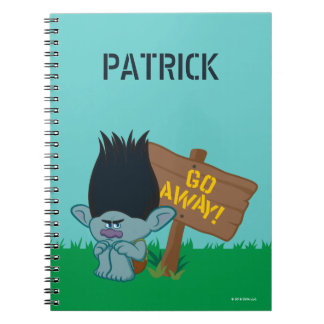 Trolls | Branch - Go Away Spiral Note Book