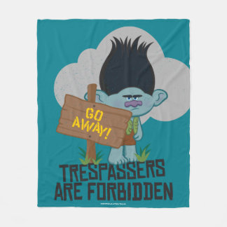 Trolls | Branch - Trespassers are Forbidden Fleece Blanket