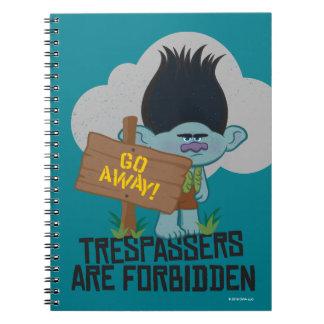 Trolls | Branch - Trespassers are Forbidden Spiral Notebook