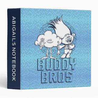 Trolls | Cloud Guy & Branch - Buddy Bros 3 Ring Binder
