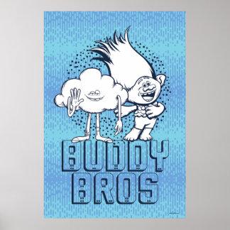Trolls | Cloud Guy & Branch - Buddy Bros Poster
