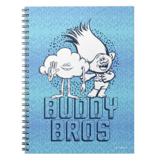 Trolls | Cloud Guy & Branch - Buddy Bros Spiral Note Books