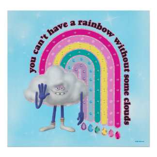 Trolls | Cloud Guy Rainbow Poster