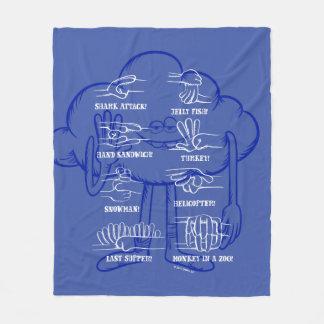 Trolls   Cloud Guy Waving Fleece Blanket