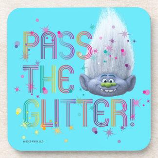 Trolls   Guy Diamond - Pass the Glitter Beverage Coaster