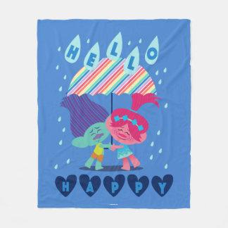 Trolls   Happy Rain Drops Fleece Blanket