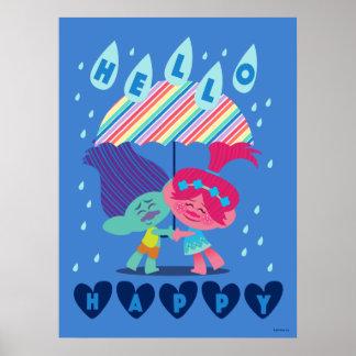 Trolls | Happy Rain Drops Poster