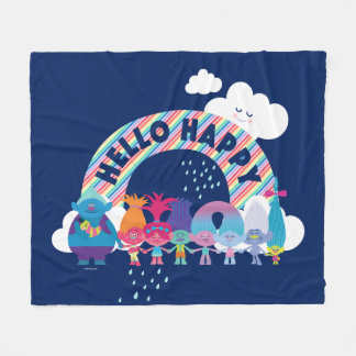 Trolls   Happy Rainbow Fleece Blanket