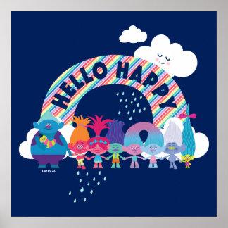 Trolls | Happy Rainbow Poster