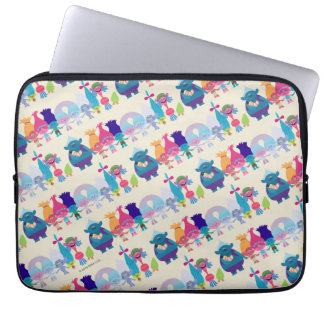 Trolls | Hug Time Pattern Laptop Sleeve