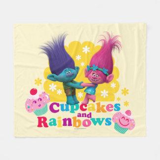 Trolls   Poppy & Branch - Cupcakes and Rainbows Fleece Blanket