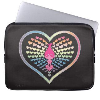 Trolls | Poppy Hearts Laptop Sleeve