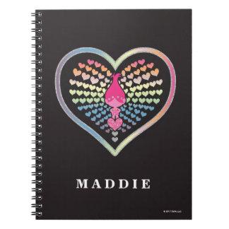 Trolls   Poppy Hearts Spiral Notebook