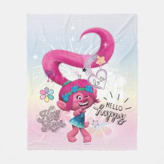 Trolls   Poppy Hello Happy Fleece Blanket