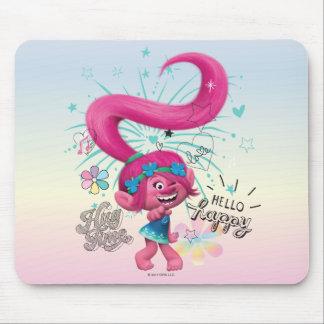 Trolls | Poppy Hello Happy Mouse Pad
