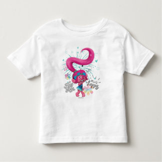 Trolls | Poppy Hello Happy Toddler T-shirt