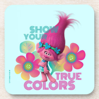 Trolls | Poppy - Show Your True Colors Coasters