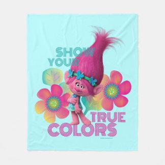 Trolls   Poppy - Show Your True Colors Fleece Blanket