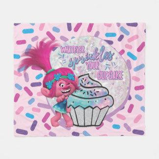 Trolls   Poppy Sprinkle your Cupcake Fleece Blanket