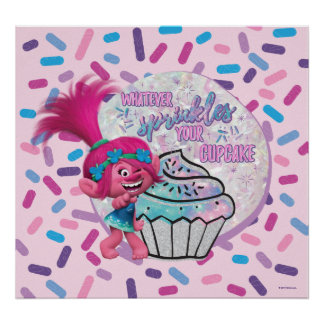 Trolls | Poppy Sprinkle your Cupcake Poster