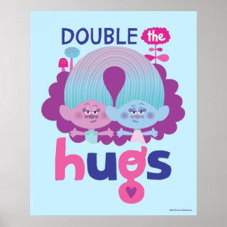 Trolls | Satin & Chenille - Double the Hugs Poster