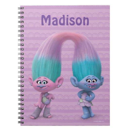 Trolls Satin Chenille Notebook Zazzle Ca
