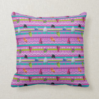 Trolls   Show Your True Colors Pattern Throw Pillow