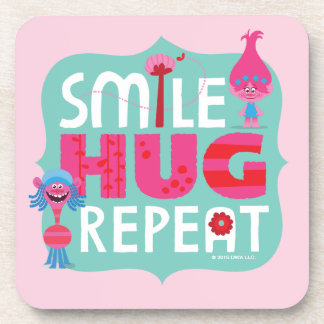 Trolls | Smile, Hug, Repeat Drink Coasters