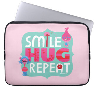 Trolls | Smile, Hug, Repeat Laptop Sleeves