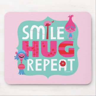 Trolls | Smile, Hug, Repeat Mouse Pad