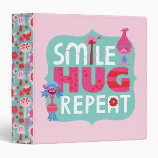 Trolls | Smile, Hug, Repeat Vinyl Binder