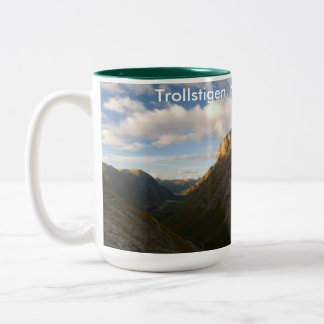 trollstigen, norway Two-Tone coffee mug