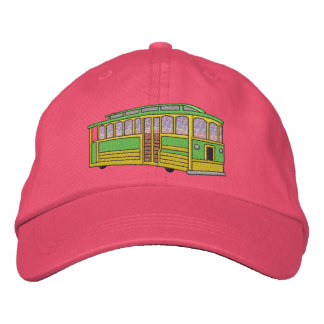 Trolly Car Embroidered Hat