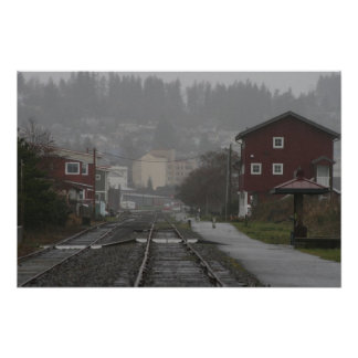 trolly tracks Astoria Oregon Coast Poster