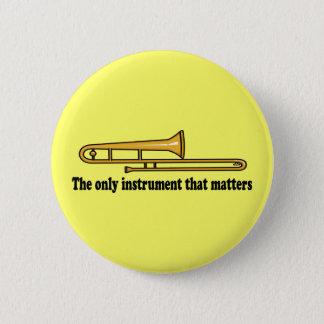Trombone Attitude 2 Inch Round Button