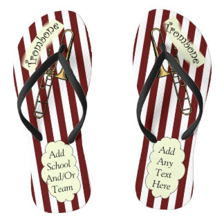 Trombone ~ Band ~ Football ~  Party Time ~ Music ~ Flip Flops