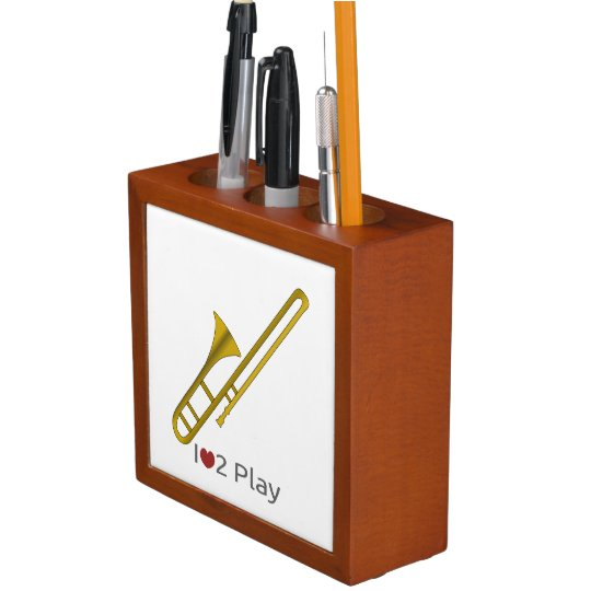 Trombone cartoon Desk Organizer