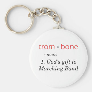 Trombone - Definition Basic Round Button Keychain