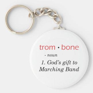 Trombone - Definition Basic Round Button Keychain